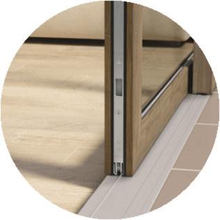 system HST - ściany szklane przesuwne