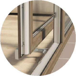 system PSK - ściany szklane przesuwne