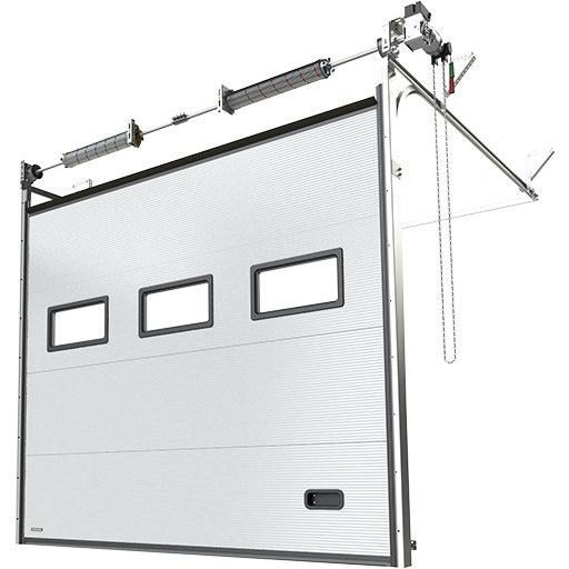 Brama segmentowa Krispol K2 IM stalowa, v-profilowanie