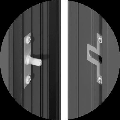 Zawiasy rolkowe w drzwiach