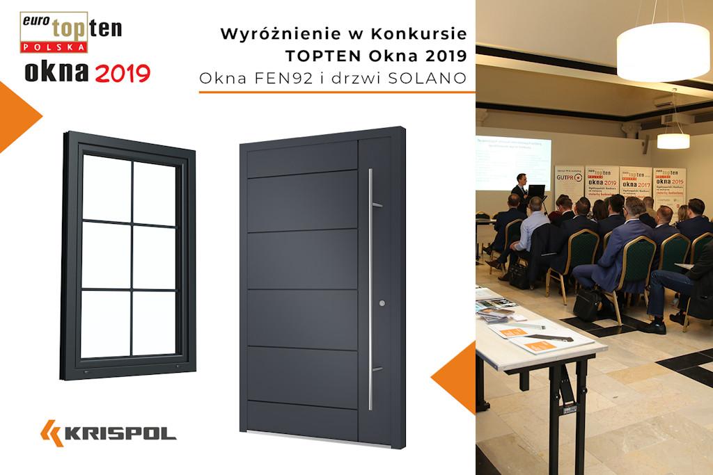 Topten Okna 2019 Krispol FEN92 i Solano - zdobywcy nagród