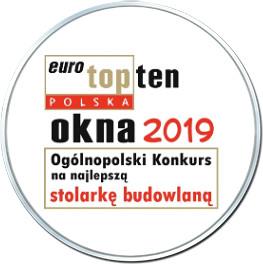 Nagroda dla firmy Krispol - Topten Okna 2019