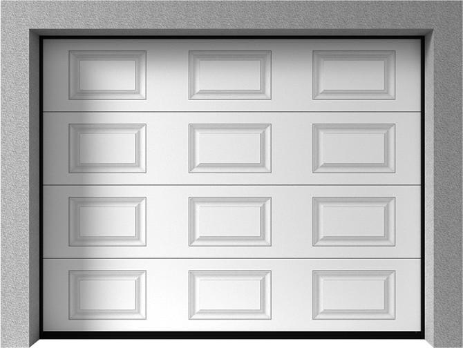 Bramy garażowe segmentowe - Vente K2 RA kasetony