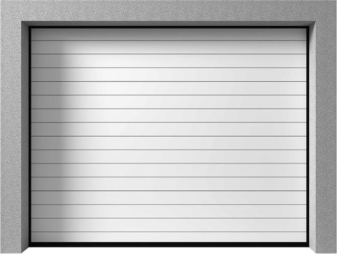 Bramy garażowe segmentowe - Vente K2 RC tłoczenie wąskie