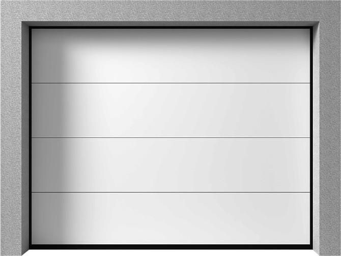 Bramy garażowe segmentowe - Vente K2 RF tłoczenie szerokie