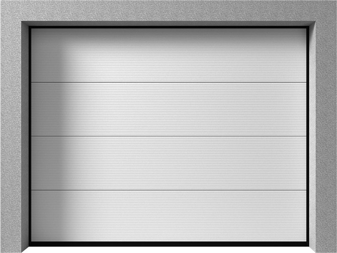Bramy garażowe segmentowe - Vente K2 RM v-profilowanie